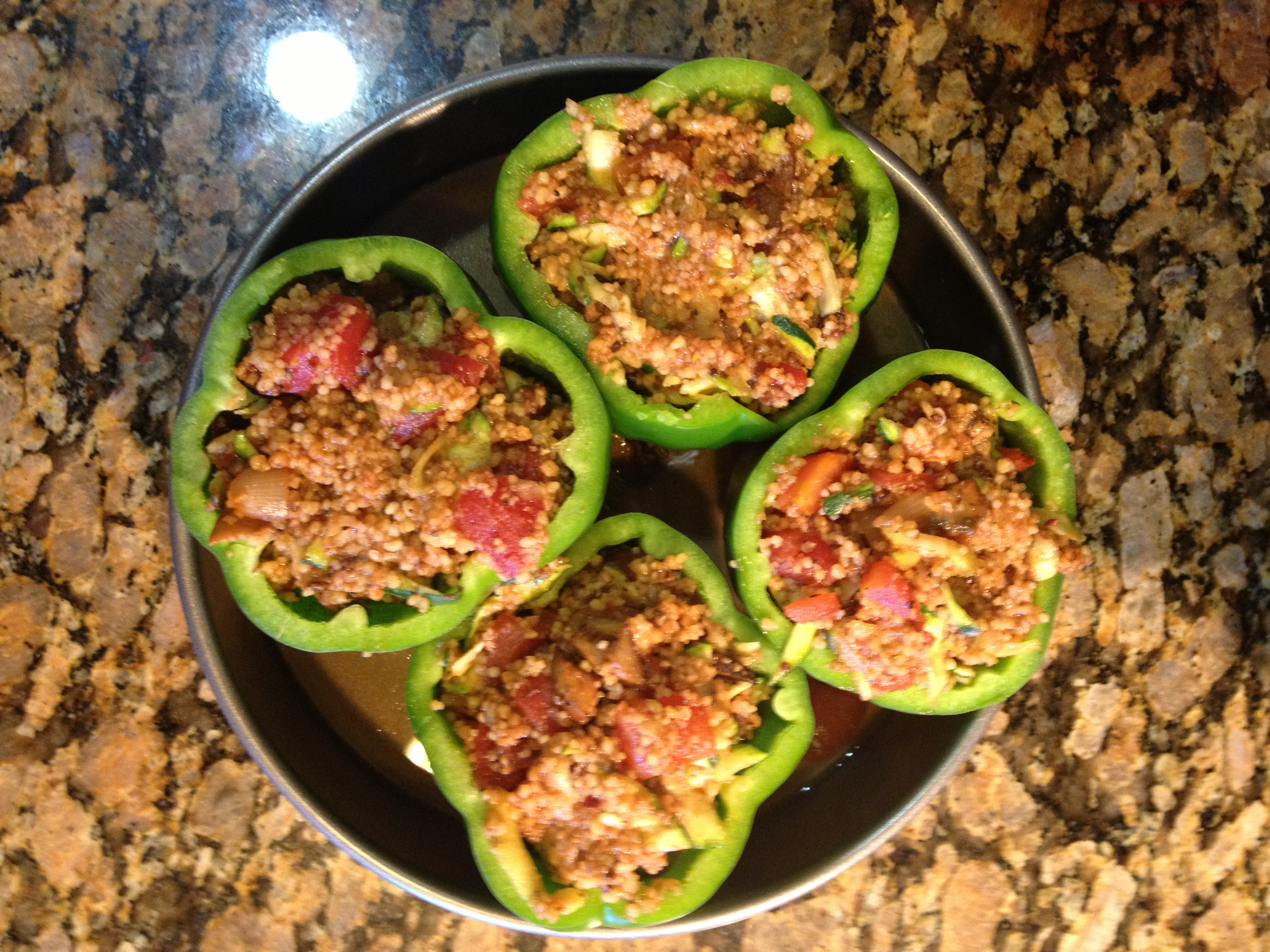 Recipes for Busy Nights: Vegetarian Stuffed Peppers